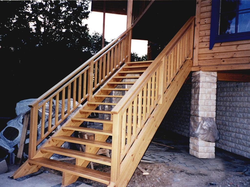 Лестницы для дома своими руками уличные 55
