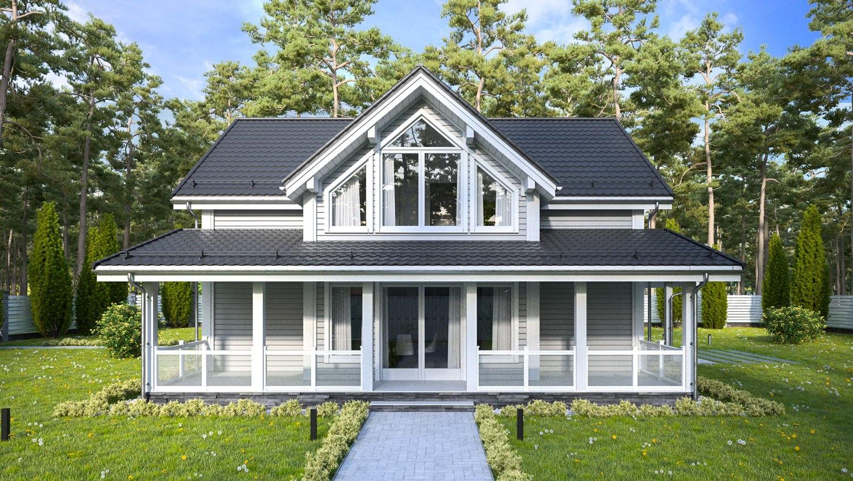 Дом из бруса - проект Сандвик