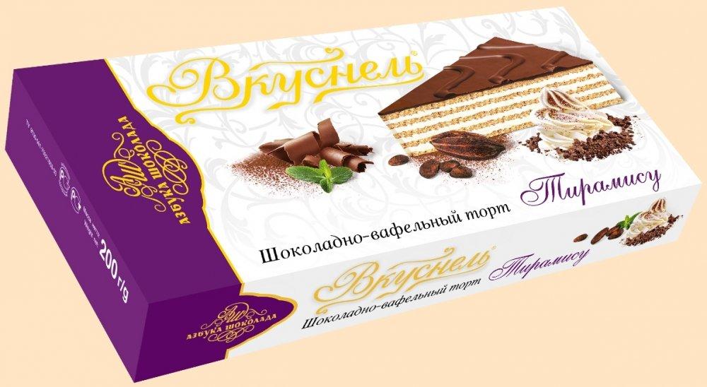 Шоколадно-вафельный торт Вкуснель