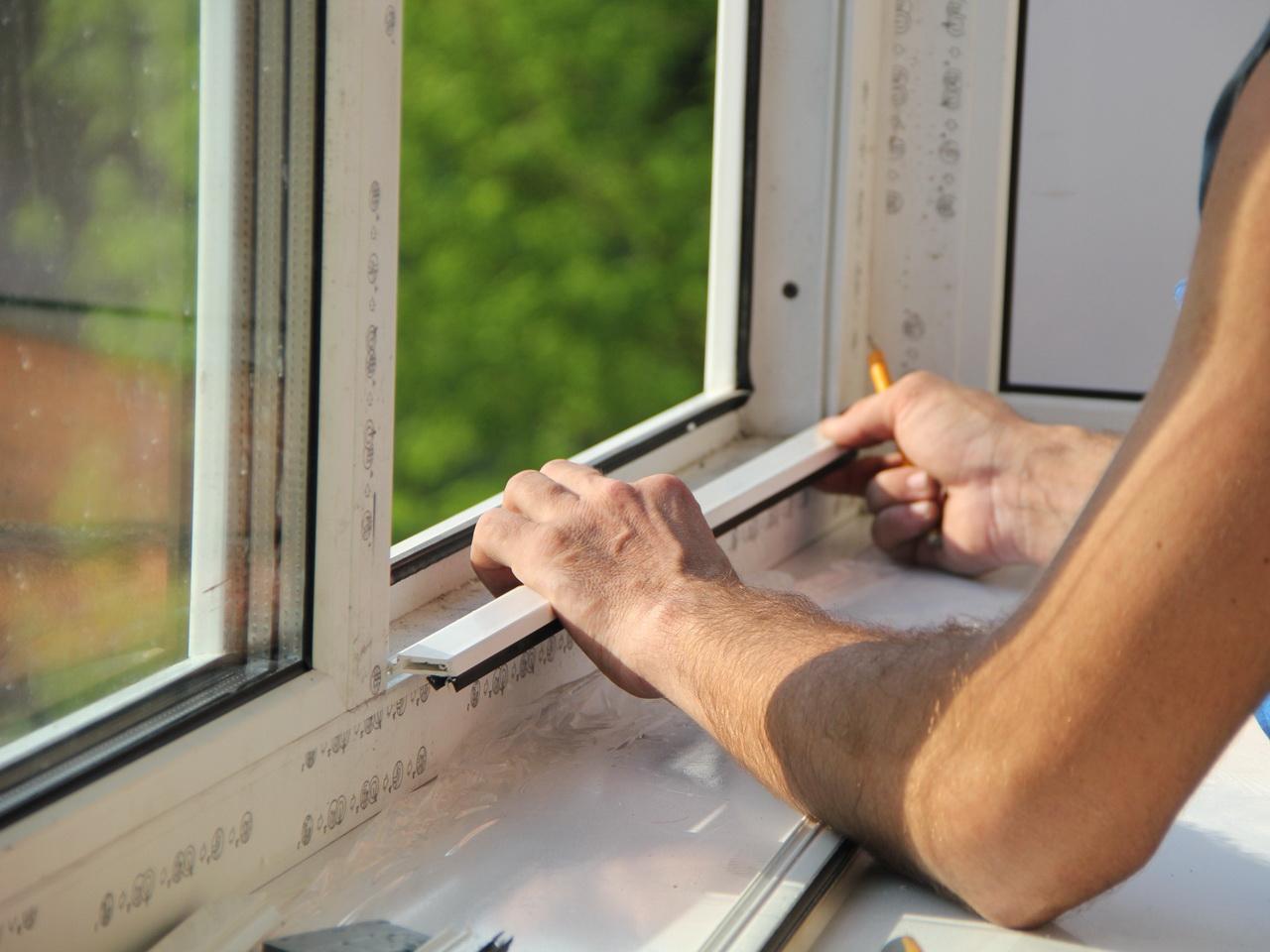 Окна балконные пластиковые установка